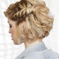 Rope Braided Hairstyle for Medium Hair