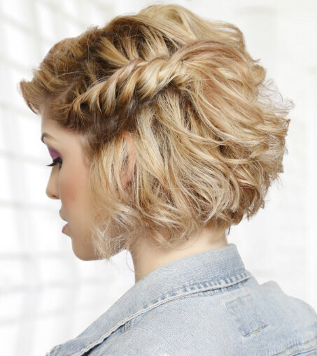 Rope Braided Hairstyle for Medium Hair