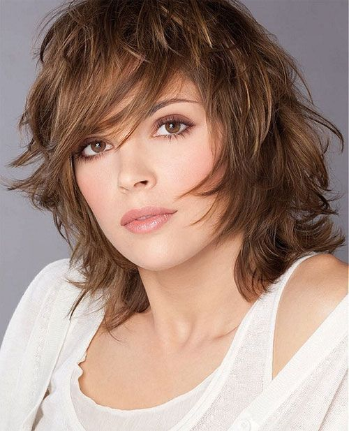 Shaggy Medium Layered Hairstyle
