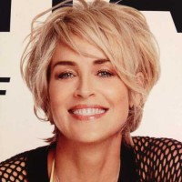 Sharon Stone Mesyy Bob Hairstyle