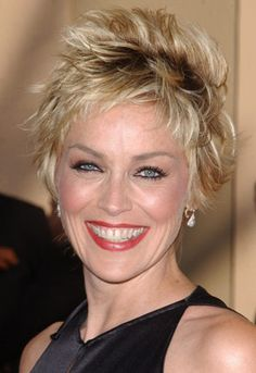 12 Impressive Sharon Stone Short Hairstyles - Pretty Designs