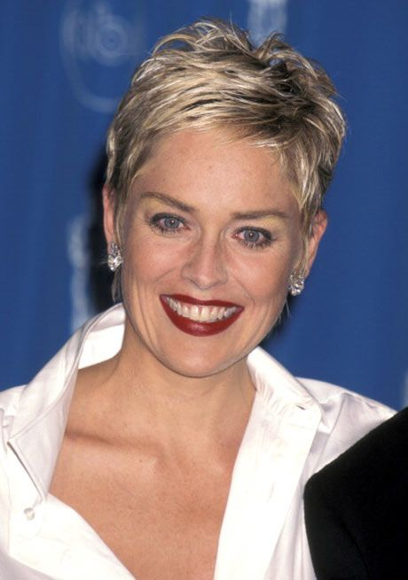 ... Photos - Sharon Stone Hairstyles Pixie Cut Long Hair Extensions Bed