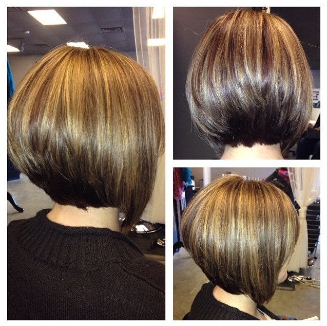 Short Angled Bob Hairstyle for Women