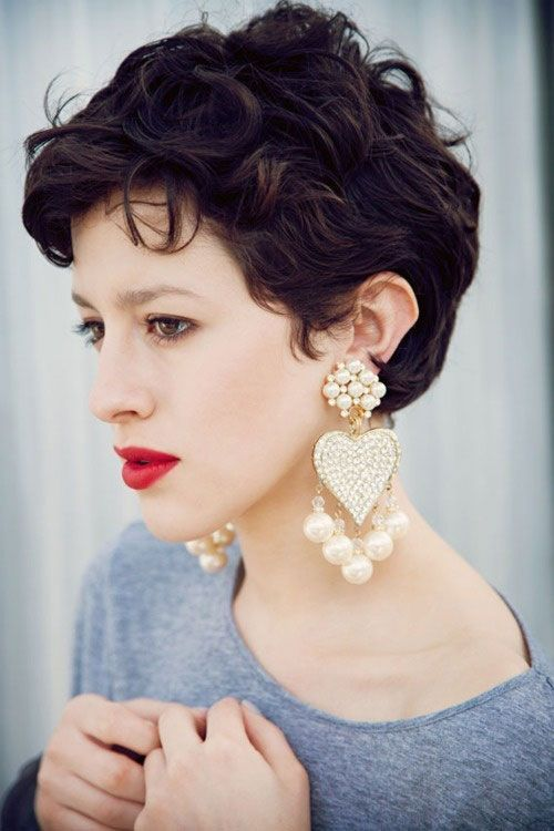 Short Curly Hairstyle for Thick Hair