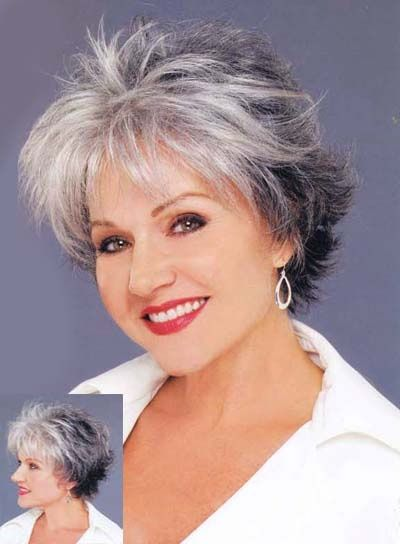 Short Hairstyles for Grey Hair Women Over 50