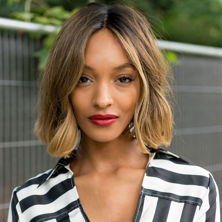 Short Layered Bob Hairstyle for Ombre Hair