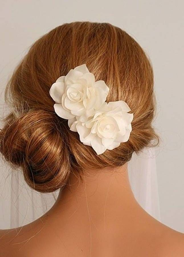 Side Bun Bridesmaid Hairstyle For Long Hair