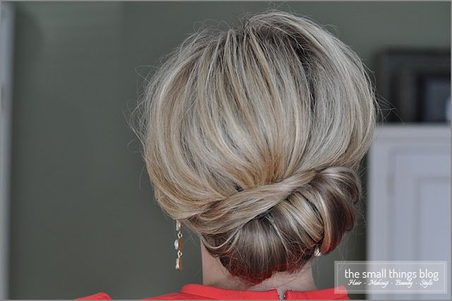 Side French Twist Updo