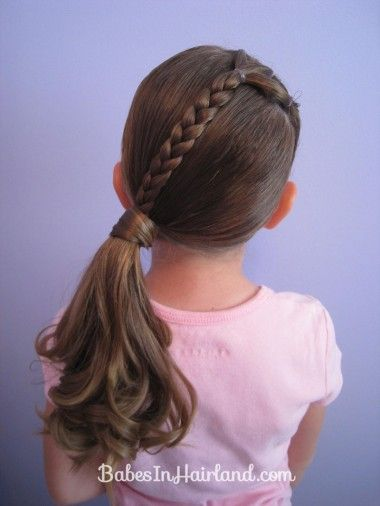 Simple Braided Ponytail Hairstyle for Kids