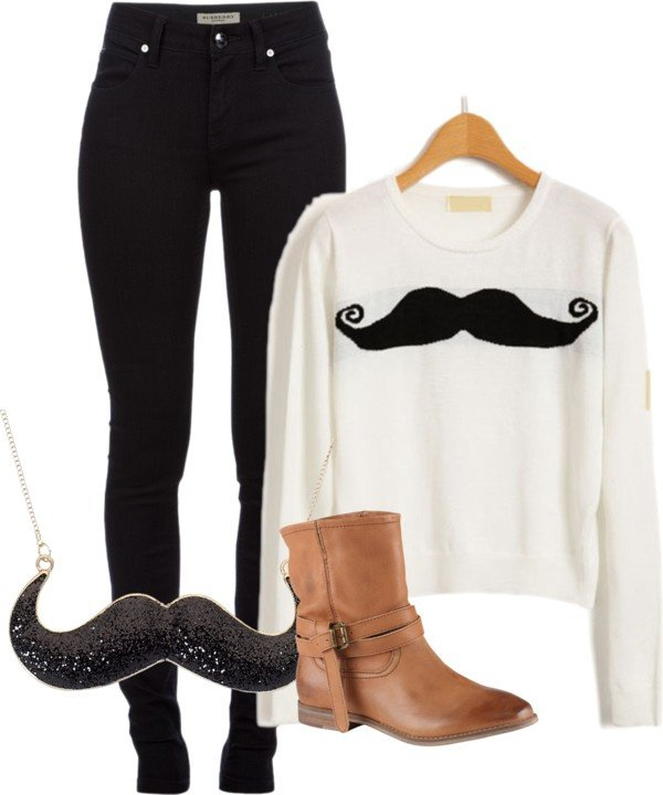 Simple Outfit Idea for Movember