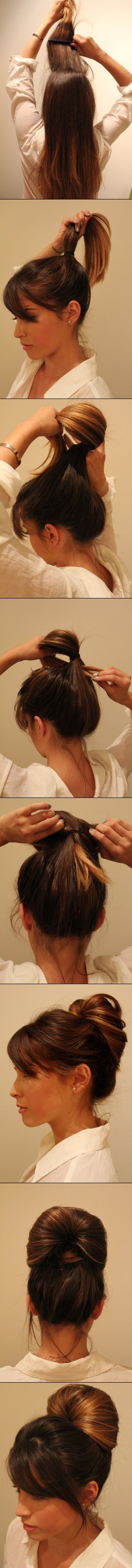Simple Teased Updo Hairstyle Tutorial