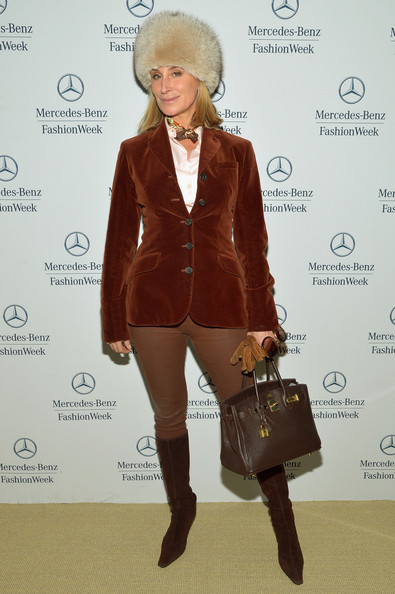 Sonja Morgan Blazer Outfit with Knee High Boots