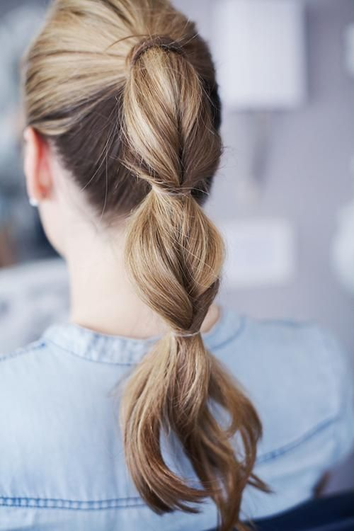 Special Ponytail Hairstyle for Brown Hair