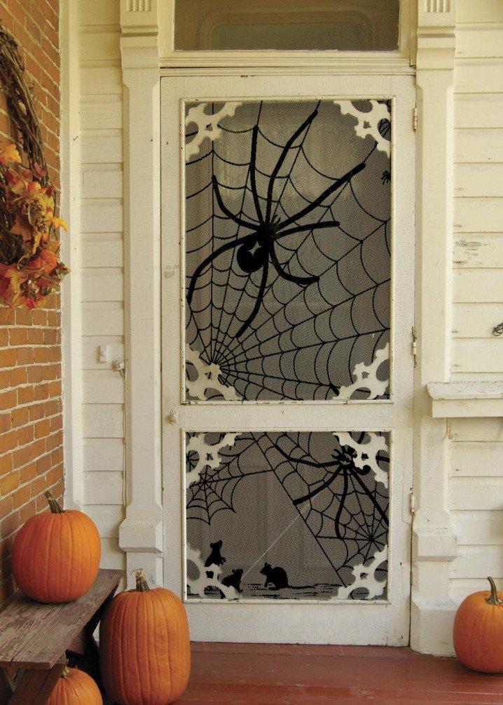 spider net door spider net door via simple halloween porch