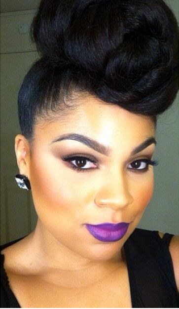 Stunning Black Updo Hairstyle