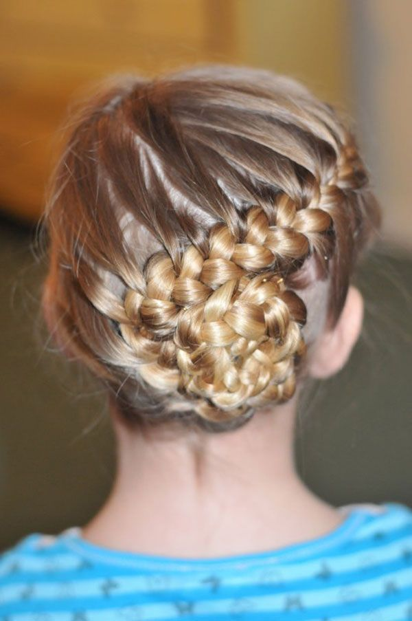 Stunning Braided Bun Hairstyle for Kids