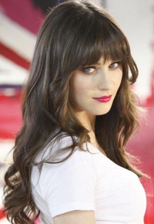Stunning Brunette Hairstyle With Bangs for Long Hair