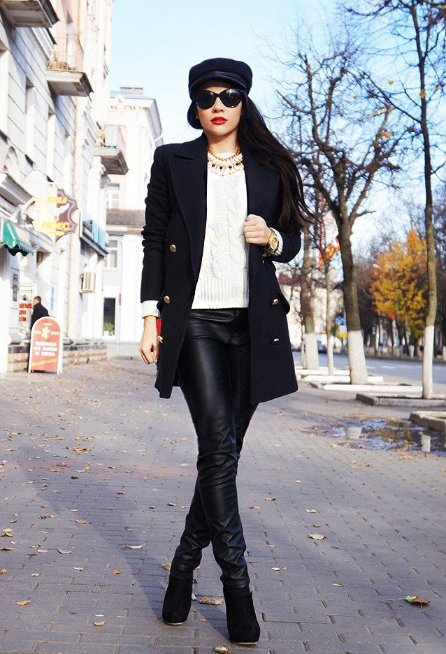 Stylish Fall Outfit Idea with A Hat