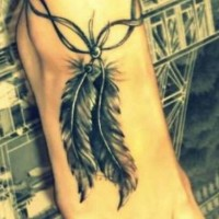 Stylish Feather Tattoo