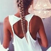 Stylish French Braid Hairstyle