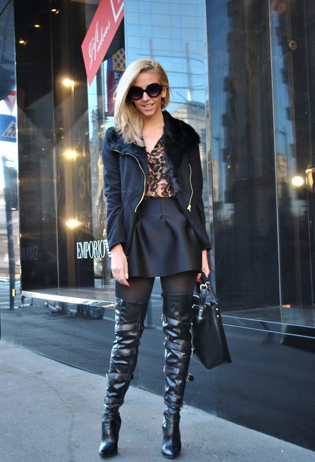 Fall 2015 Fashionable Outfits With Over Knee Boots