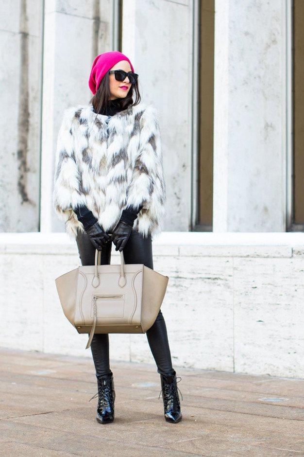 Stylish Way to Wear a Fur Coat