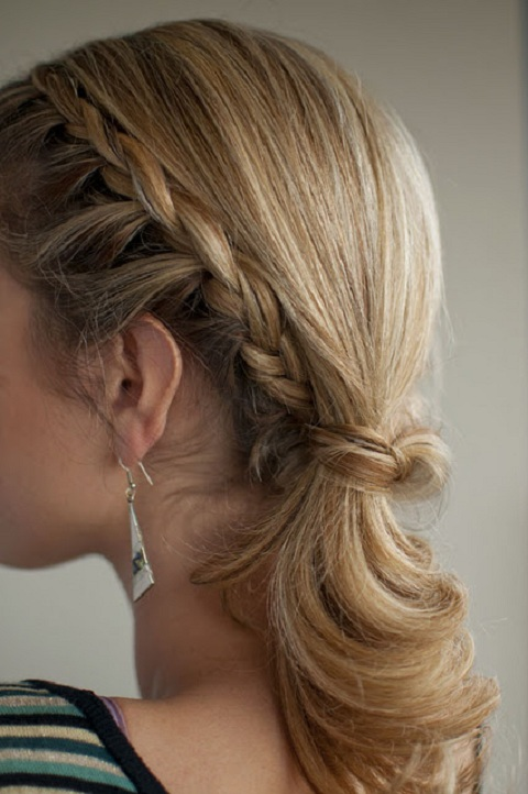 Sweet Braided Ponytail for Medium Hair
