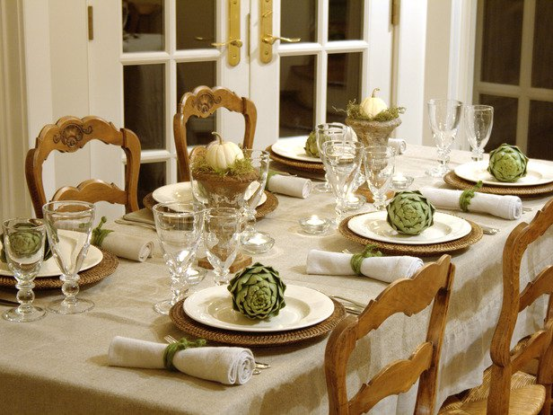 Table with Simple Decoration