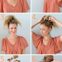 Teased Top Knot