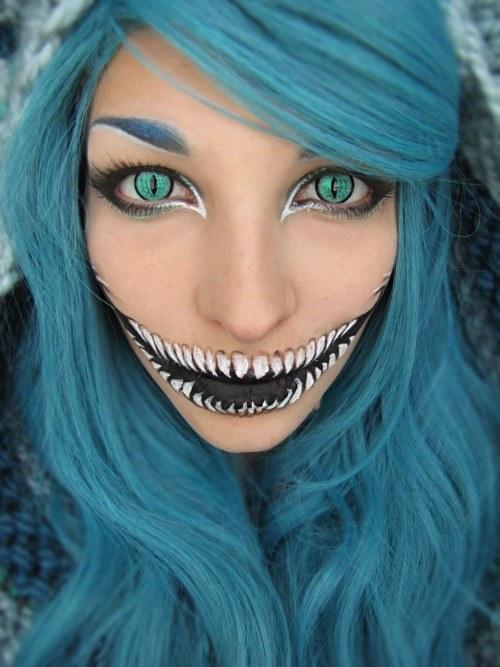 Terrible Cat Makeup Look for Halloween