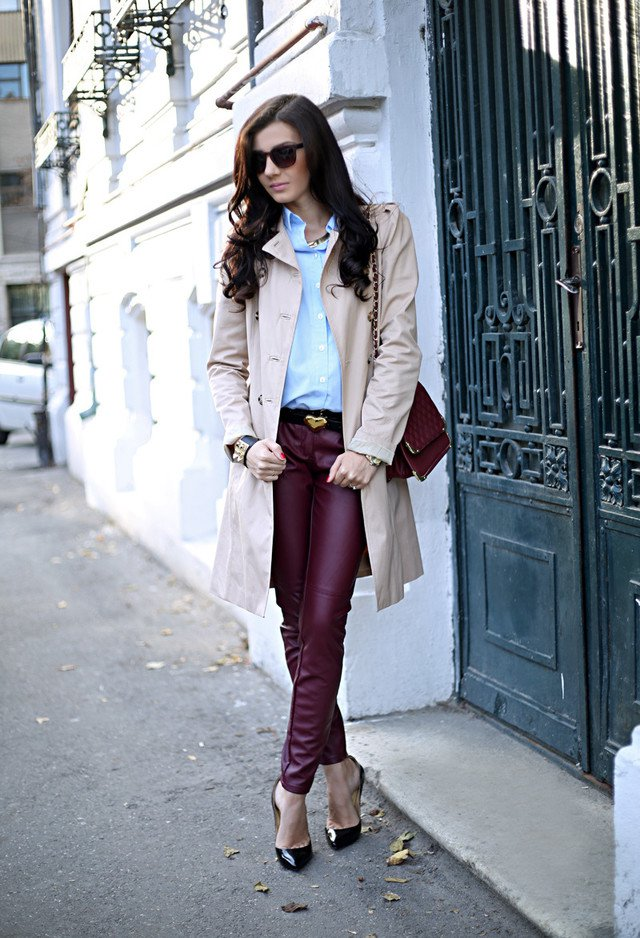Trendy Outfit with Maroon Trousers