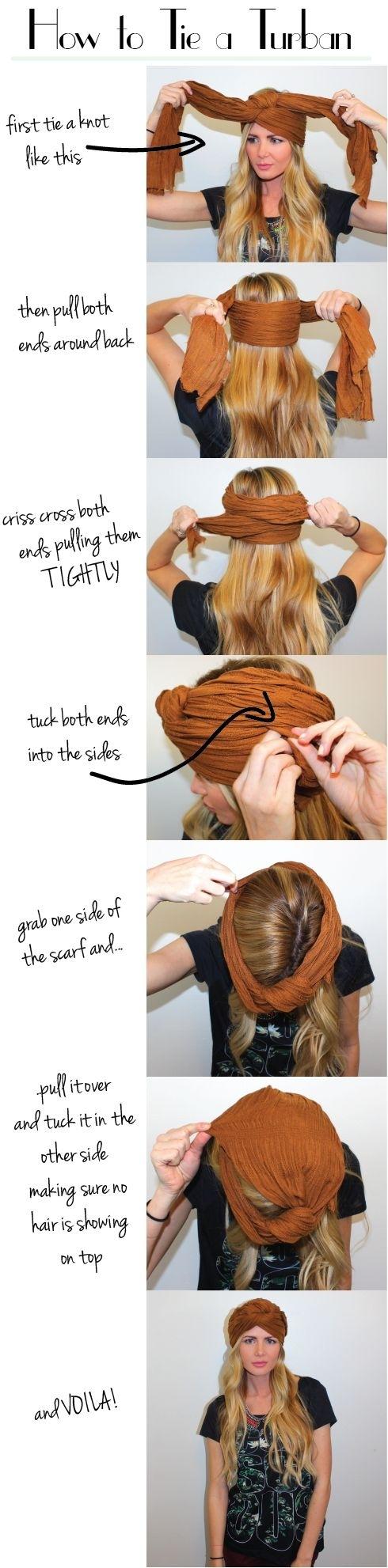 Turban Hairstyle Tutorial