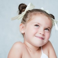 Twisted Pigtails Hairstyle for Little Girls
