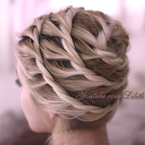 Twisted Updo for Mid-length Hair