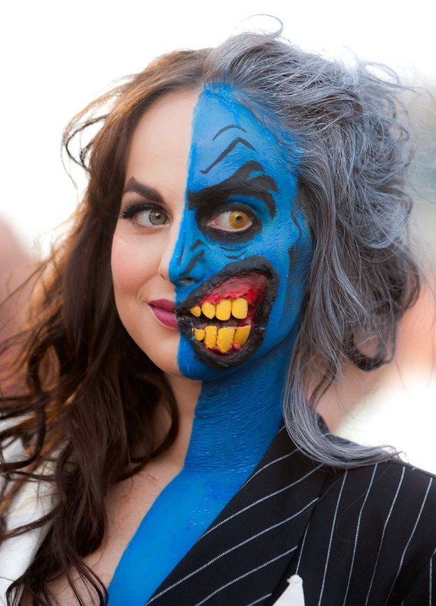 Two-Face Look for Halloween