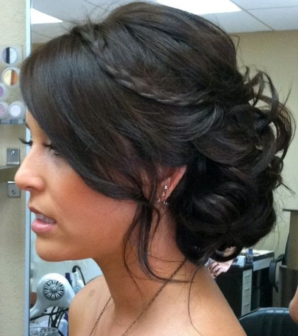 Black Updo Hairstyle for Medium Hair