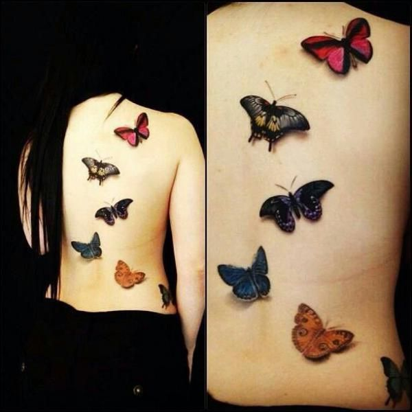 Various Butterfly Tattoos