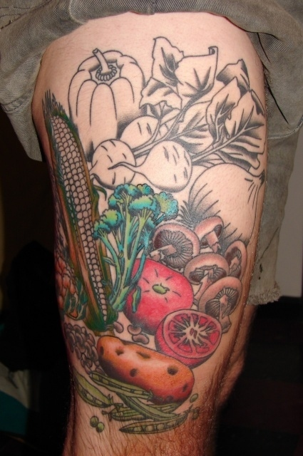 Interesting Food Tattoo Designs For Lovely Fashionistas