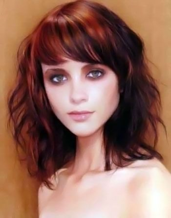 Vintage Medium Hairstyle With Bangs