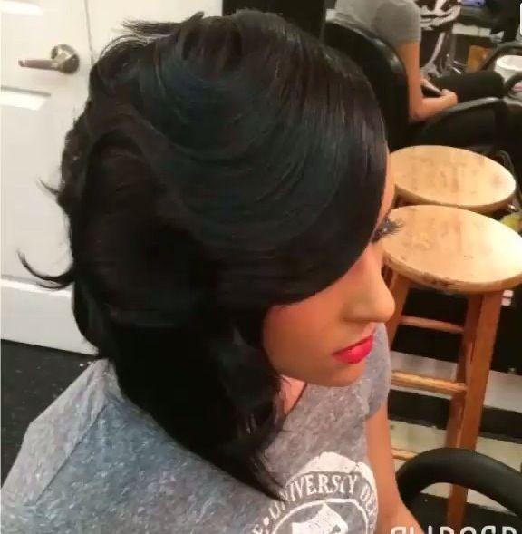Vintage Styled Black Bob Hairstyle