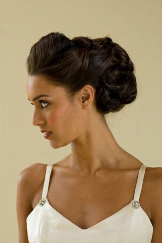 Vintage Updo for Mid-length Hair