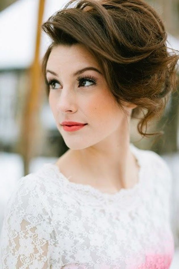 Wedding Makeup And Hair Images : 16 Beautifully Chic Wedding Hairstyles for Medium Hair ...