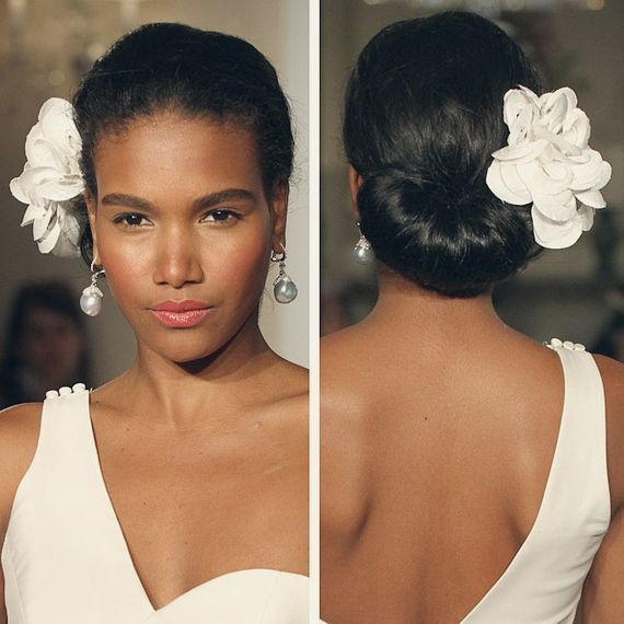 Updo Hairstyles With Bangs For Black Women 37