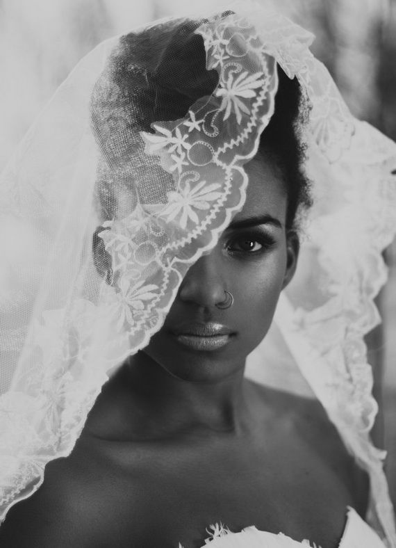 Wedding Updo Hairstyle With Veil for Black Women