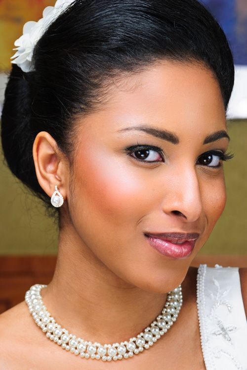 Wedding Updo Hairstyle for Black Women