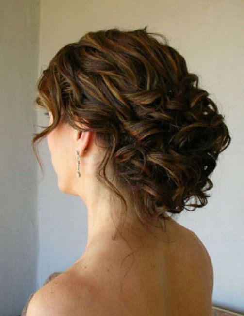 Wedding Updo For Curly Hair Pinterest