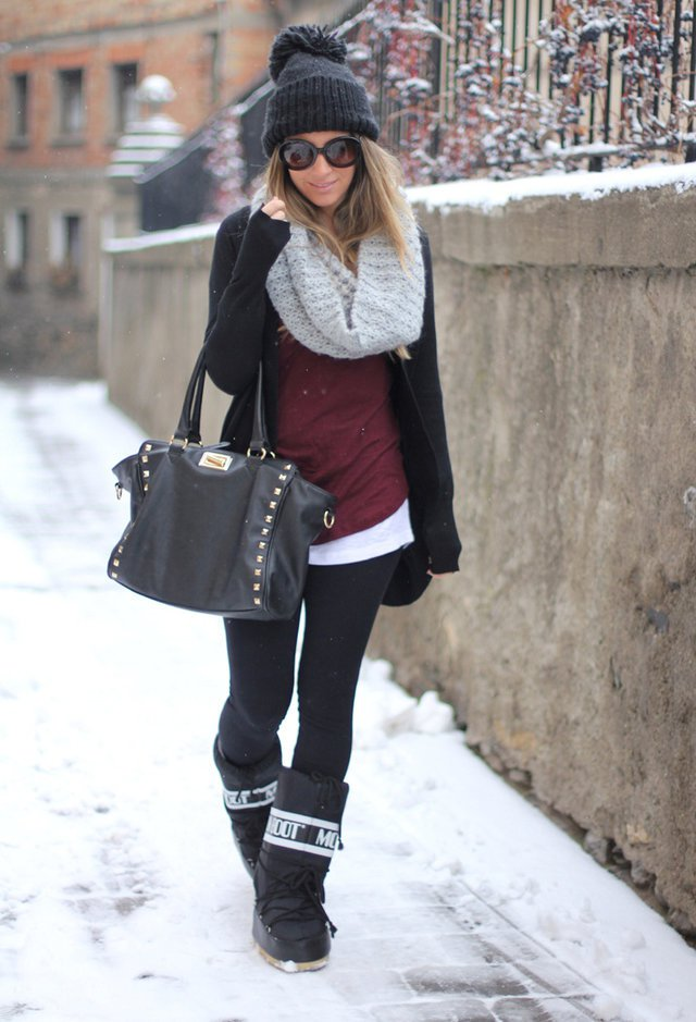Winter Outfit Idea with Scarf
