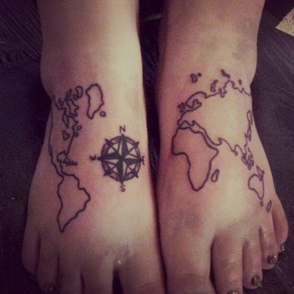 World Map on Foot