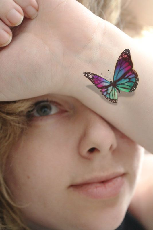 Wrist Butterfly Tattoo