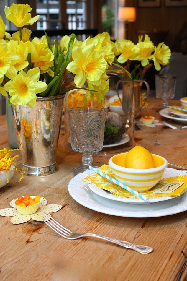 Yellow Flowers for Table Decoration